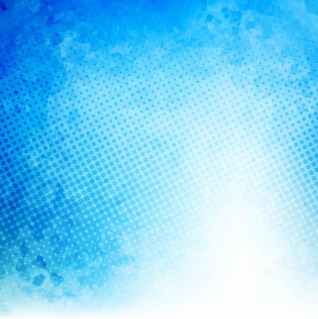 Bleu fond d'aquarelle Vecteur gratuit