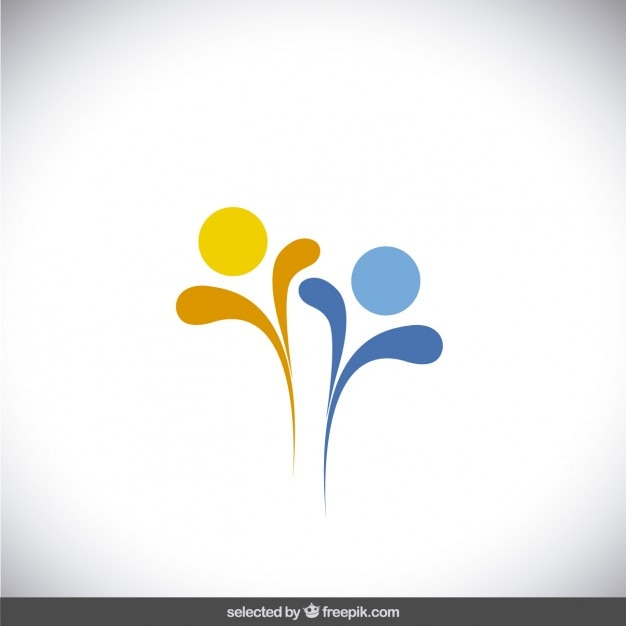 bleu et jaune abstrait logo t l charger des vecteurs. Black Bedroom Furniture Sets. Home Design Ideas