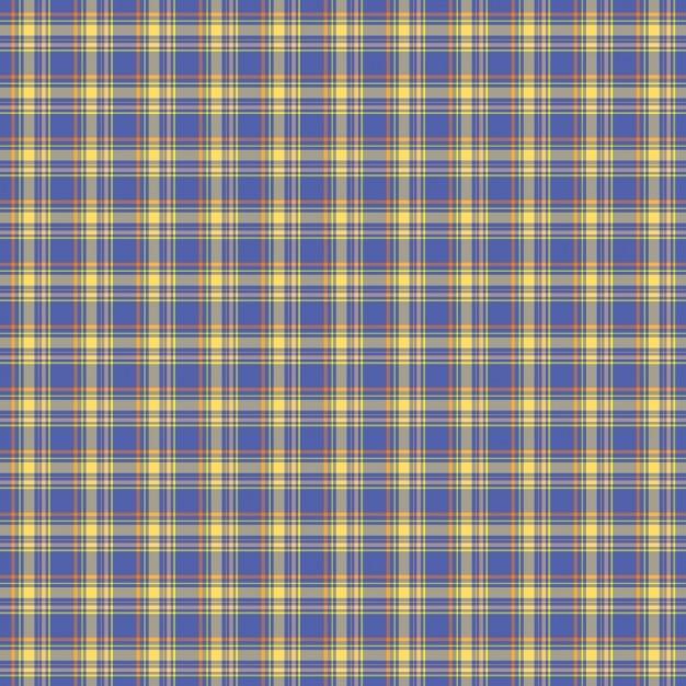 Bleu vérifiez motif tartan Vecteur gratuit