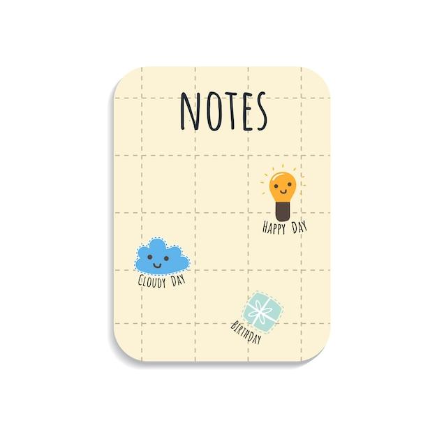 Bloc-notes coloré Vecteur gratuit