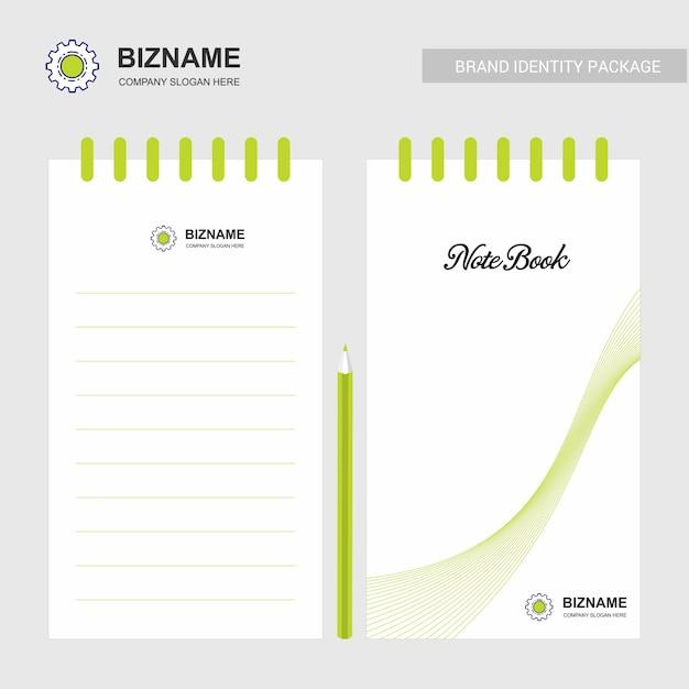 Bloc-notes Design D'entreprise Avec Logo Vectoriel Vecteur Premium