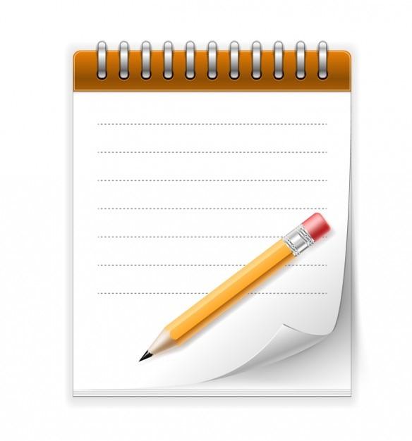 Bloc notes et crayon t l charger des vecteurs gratuitement - Telecharger un bloc note pour le bureau ...