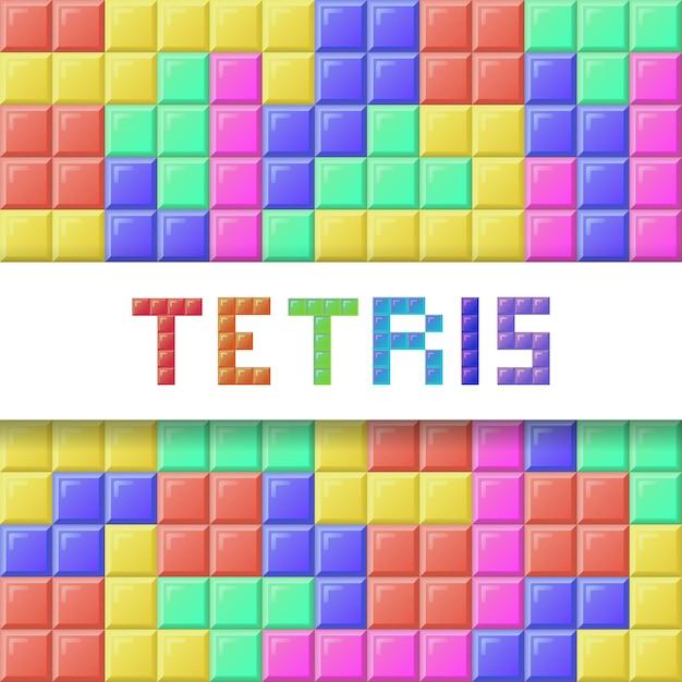 Bloc tetris Vecteur Premium
