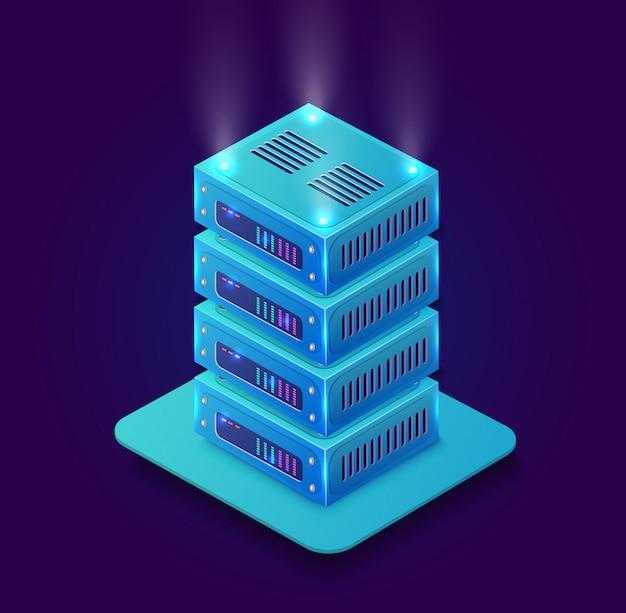 Blockchain 3d isométrique Vecteur Premium