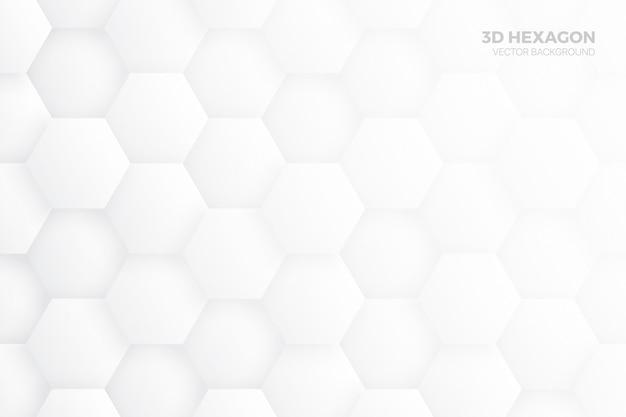 Blocs Hexagone 3d Structure Fond Abstrait Blanc Vecteur Premium