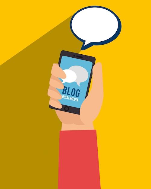 Blog et blogueurs tendance Vecteur gratuit