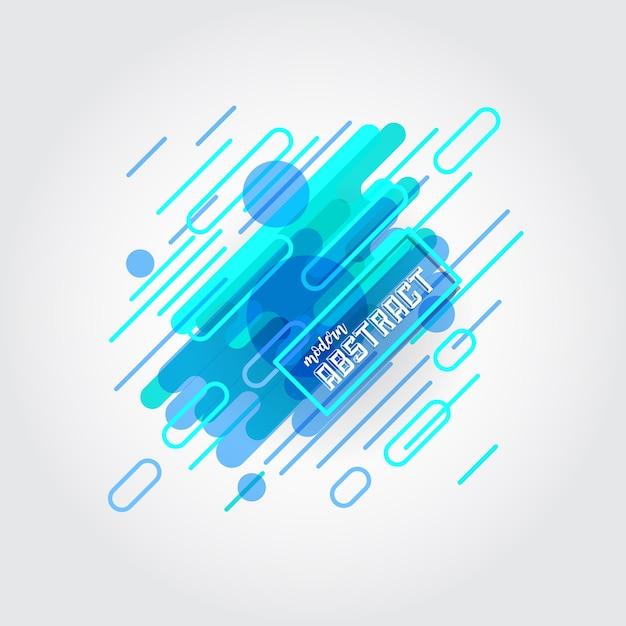 Blue abstract background Vecteur gratuit