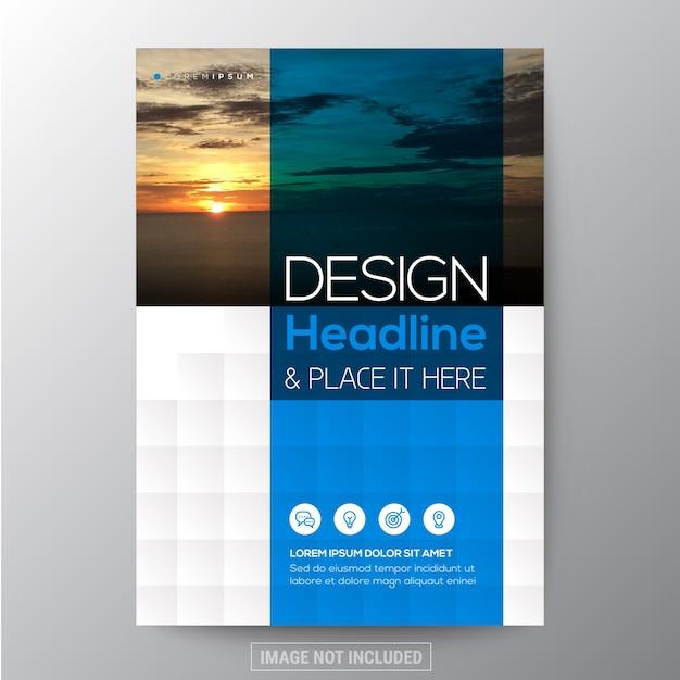 Blue And Teal Diamond Shape Background Graphique Pour Brochure Rapport Annuel Cover Flyer Poster Design Template Vecteur gratuit
