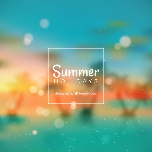Blurred summer backgroung Vecteur gratuit