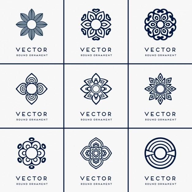 Boho ornements de style collection Vecteur gratuit