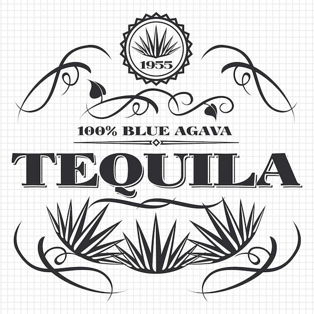 Boire de l'alcool boisson tequila design sur la page de cahier Vecteur Premium