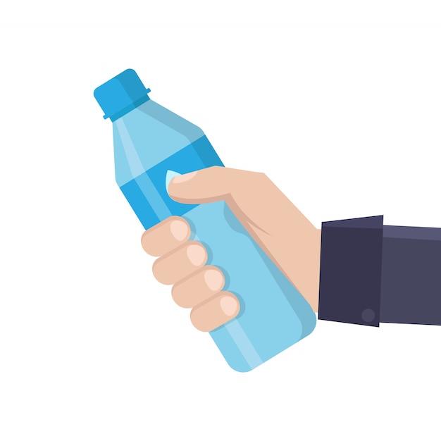 Boire De L'eau à Plat Vecteur Premium
