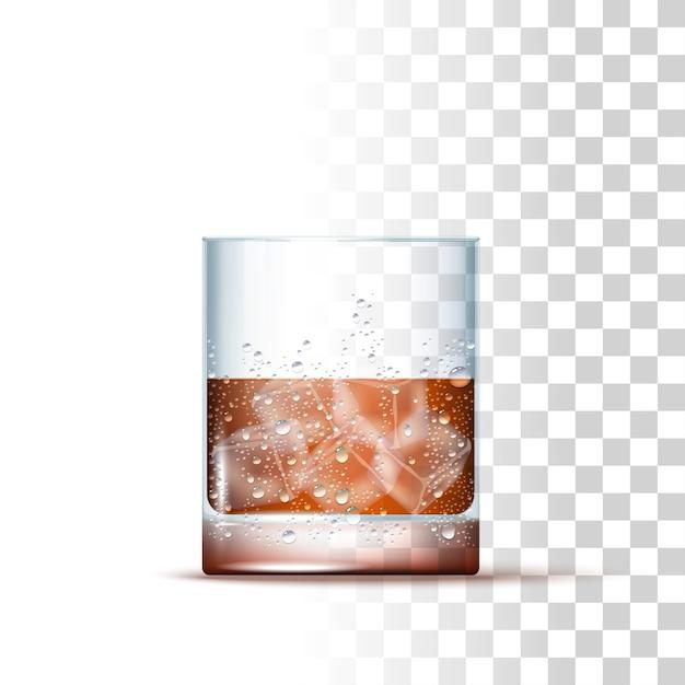 Boisson alcoolisée au whisky Vecteur Premium