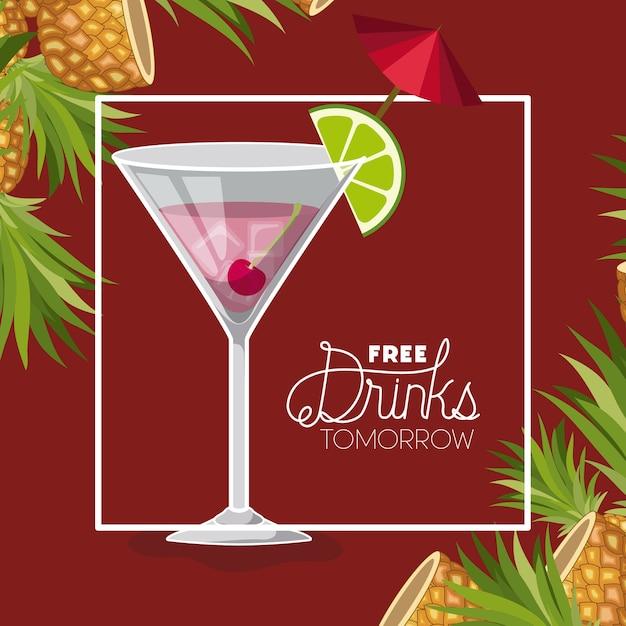 Des boissons gratuites à l'étiquette de demain Vecteur Premium