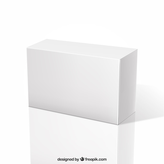 Boîte Blanche Vecteur Premium