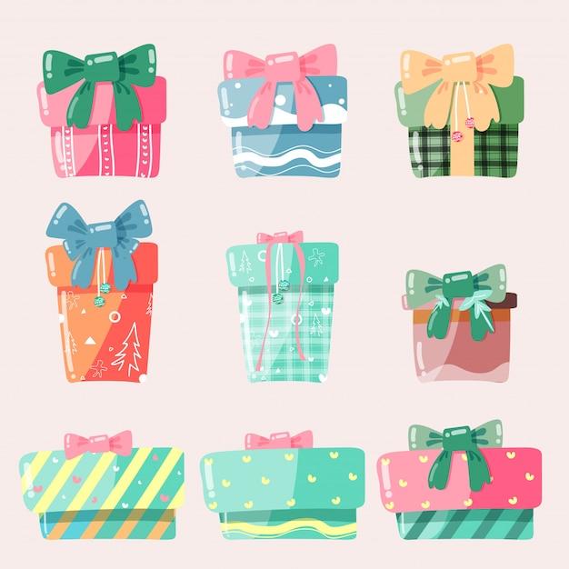 Boîte Cadeau De Dessin Animé Cadeaux De Noël Illustration