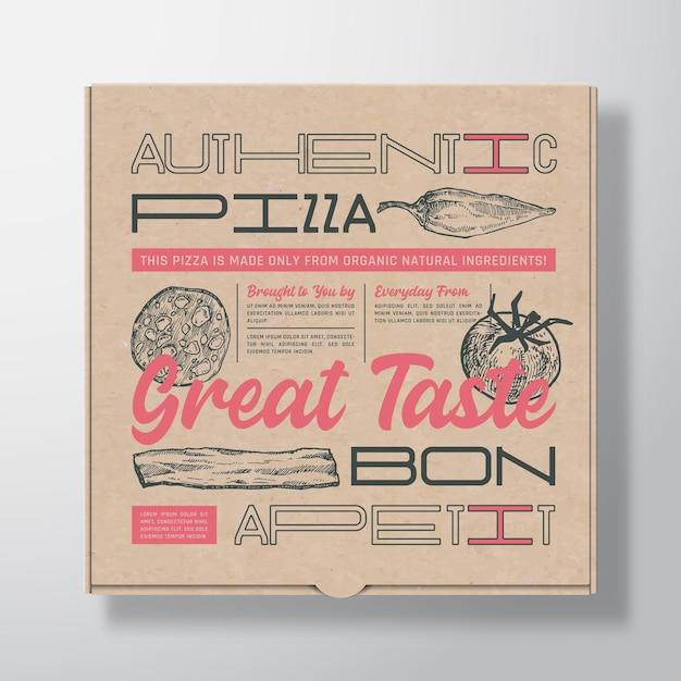 Boîte En Carton Réaliste Pour Pizza Vecteur Premium