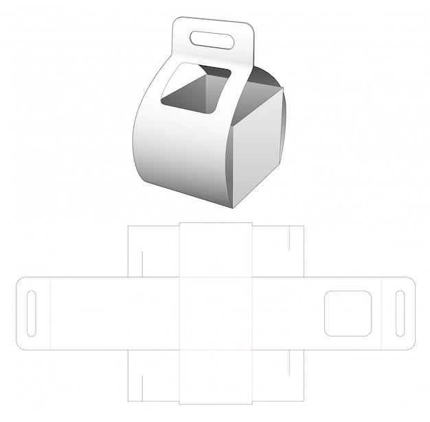 Boîte En Carton De Transport Avec Gabarit Découpé Pour Fenêtre Vecteur Premium
