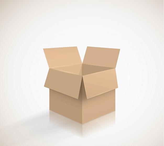 Boîte en carton Vecteur Premium