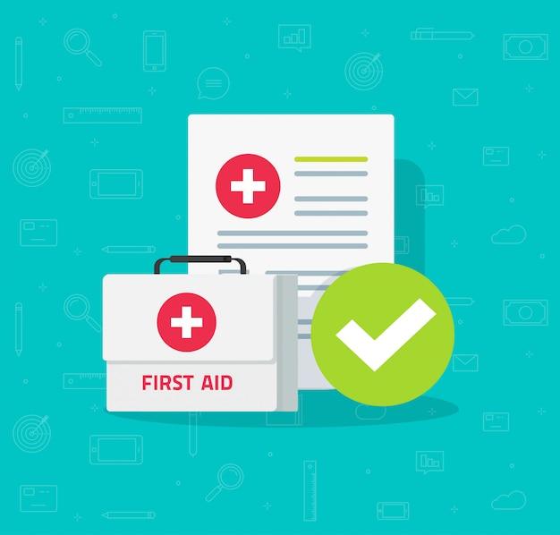 Boîte De Contrôle Et Formulaire De Contrôle Clinique Avec Données De Résultats Et Coche Approuvée Vecteur Premium