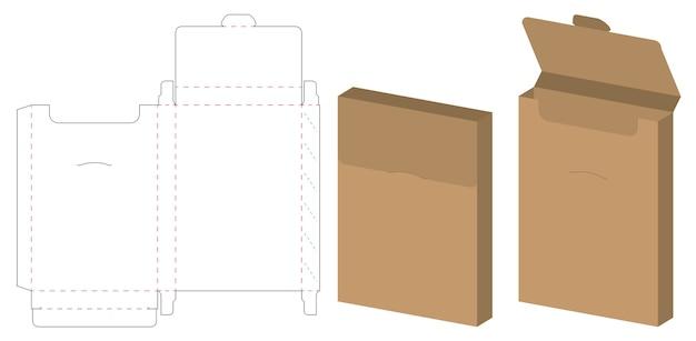 Boîte d'emballage die cut design de modèle Vecteur Premium