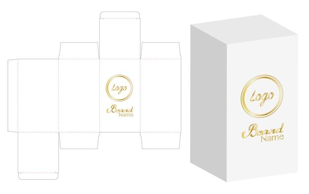 Boîte emballage die design de modèle de découpe Vecteur Premium