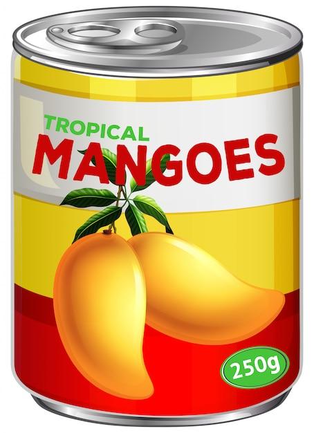 Une boîte de sirop de mangue Vecteur gratuit