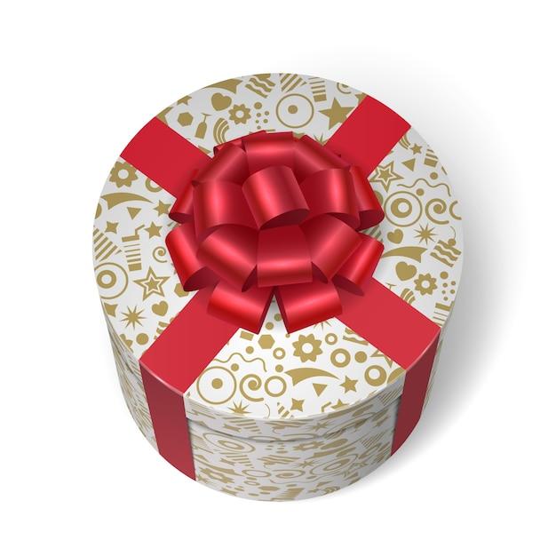 Boîte surprise avec des cadeaux et des cadeaux Vecteur gratuit