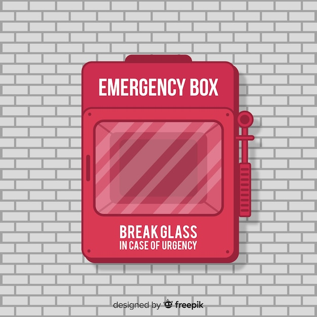 Boîte D'urgence Vecteur gratuit