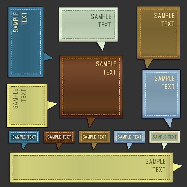 boîtes de message de vecteur avec l'espace pour le texte Vecteur gratuit