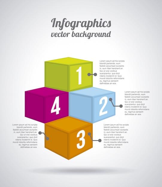 Boîtes numériques sur illustration vectorielle fond gris Vecteur Premium