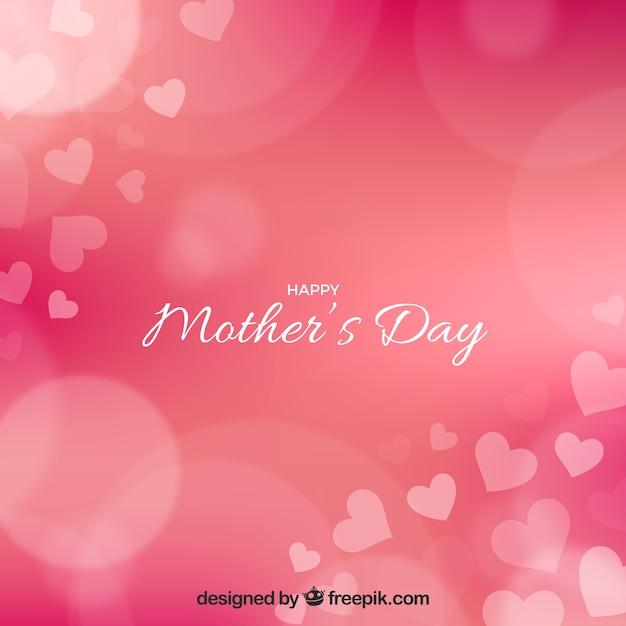 Bokeh fond de la fête des mères Vecteur gratuit