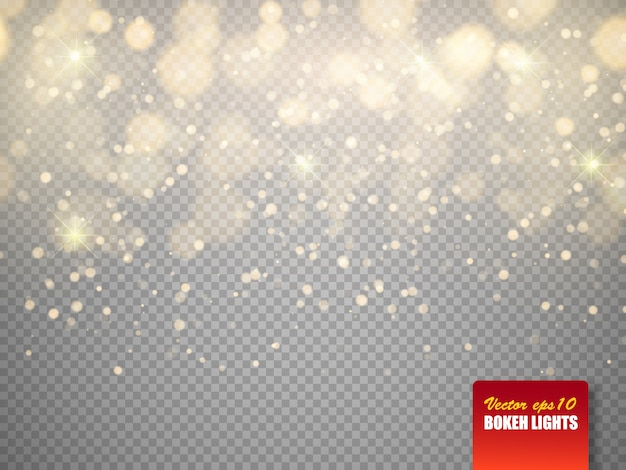 Bokeh Lights Abstract Magic Floue Particules Brillantes Vecteur Premium