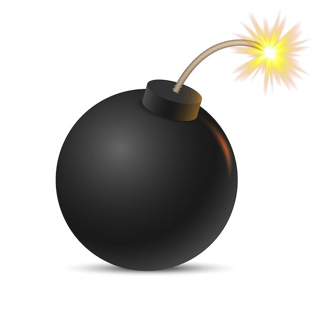 Bombe De Bande Dessinée. Vecteur Vecteur Premium