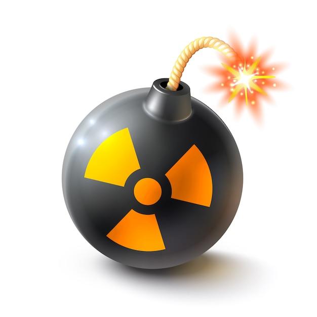 Bombe illustration réaliste Vecteur gratuit
