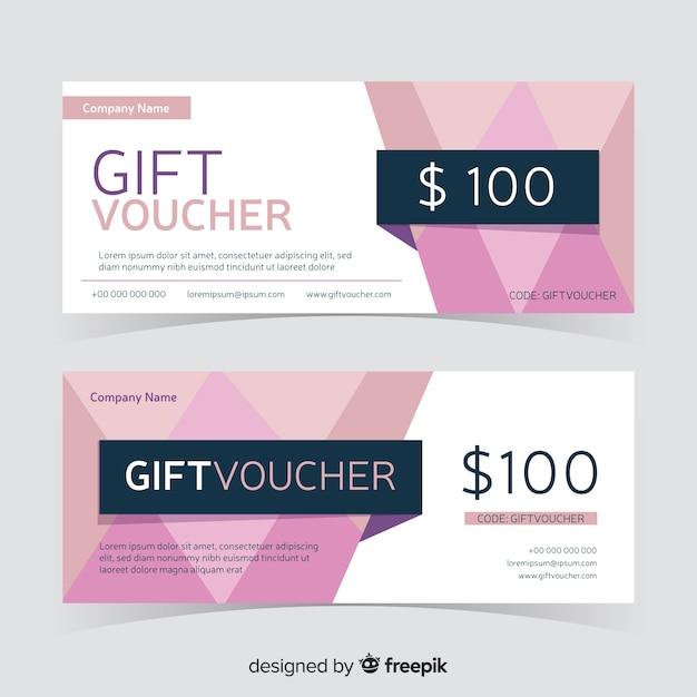 Bon Cadeau Design Plat Vecteur gratuit