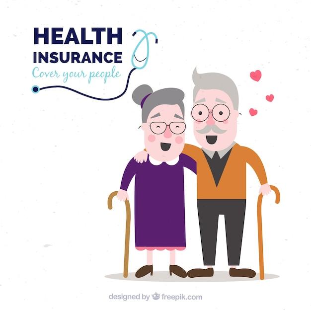 Bon couple en bonne santé et heureux Vecteur gratuit