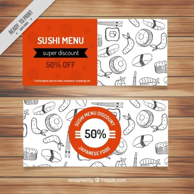 Bon Pour La Nourriture Japonaise Vecteur gratuit