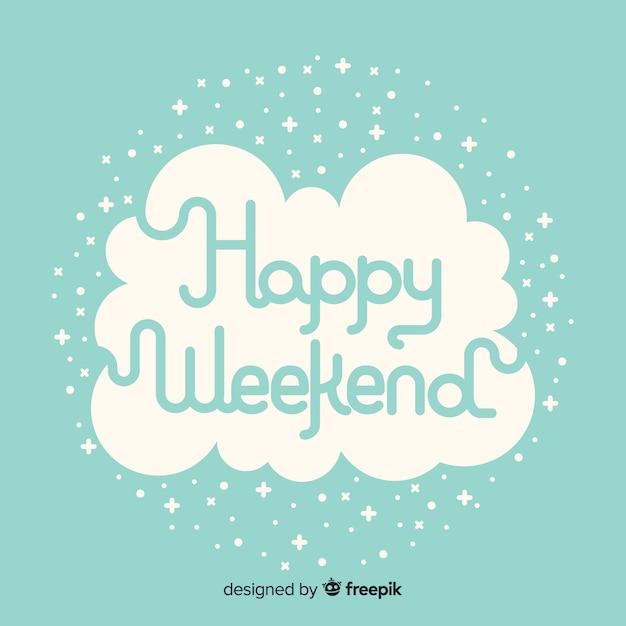 Bon Weekend Vecteur Gratuite