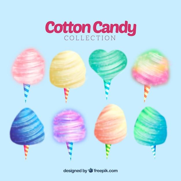 Bonbon de coton coloré Vecteur gratuit