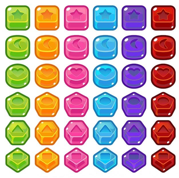 Bonbons match trois Vecteur Premium