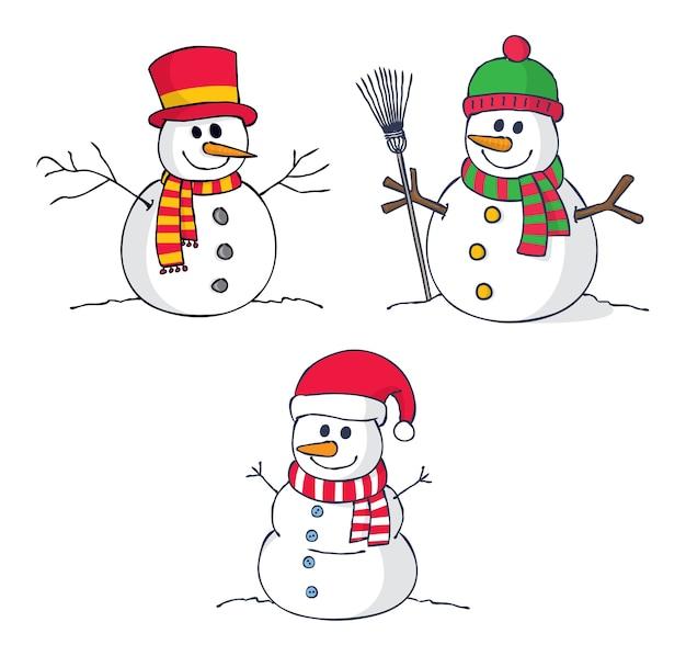 """Résultat de recherche d'images pour """"bonhomme de neige dessin"""""""
