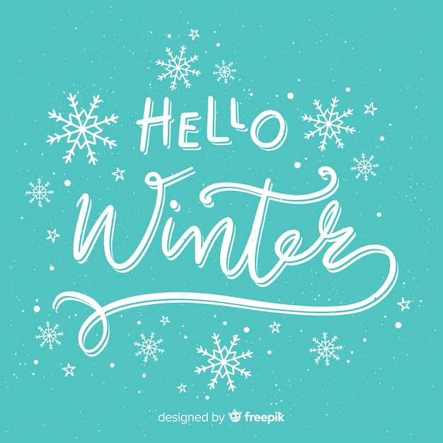 Bonjour fond d'hiver Vecteur gratuit