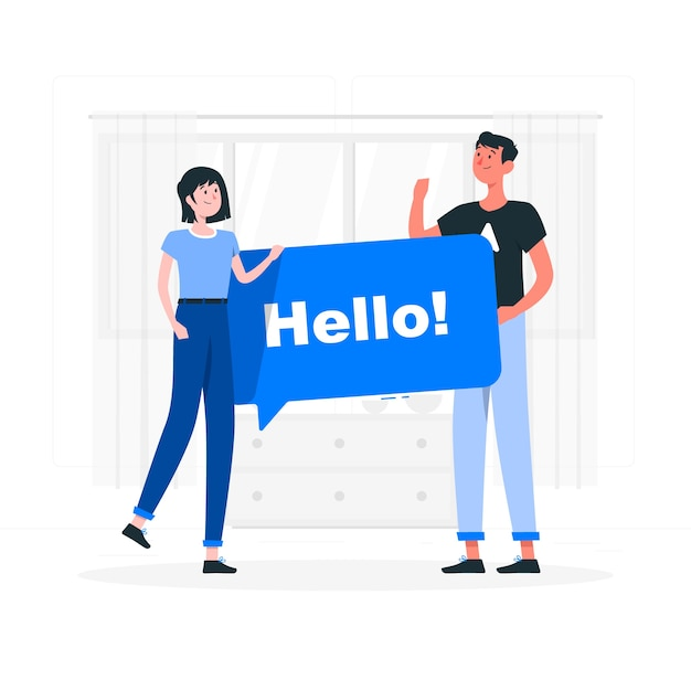 Bonjour illustration de concept Vecteur gratuit