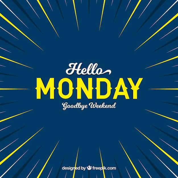 Bonjour lundi, bonjour week-end Vecteur gratuit