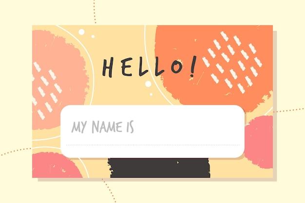 Bonjour Mon Nom Est Label Vecteur gratuit