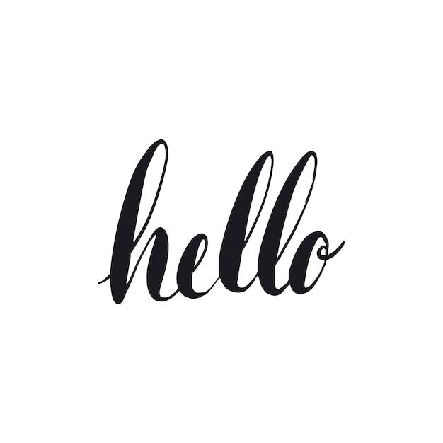 Bonjour vecteur de style typographie voeux Vecteur gratuit