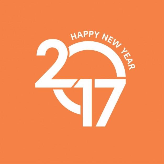 bonne ann e 2017 mod le de papier peint orange t l charger des vecteurs gratuitement. Black Bedroom Furniture Sets. Home Design Ideas