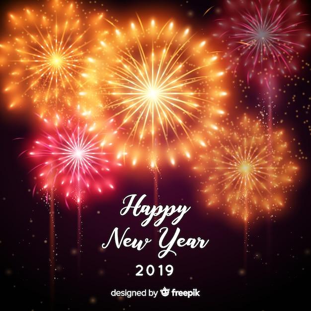 Bonne année 2019 background Vecteur gratuit