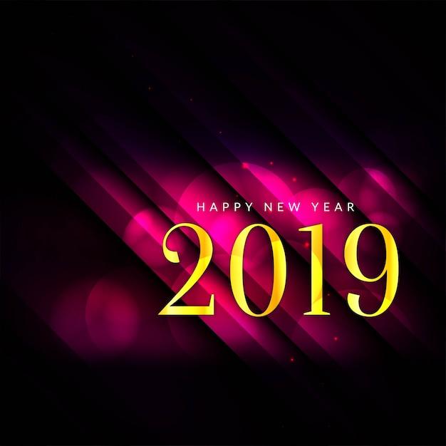 Bonne année 2019 fond moderne Vecteur gratuit